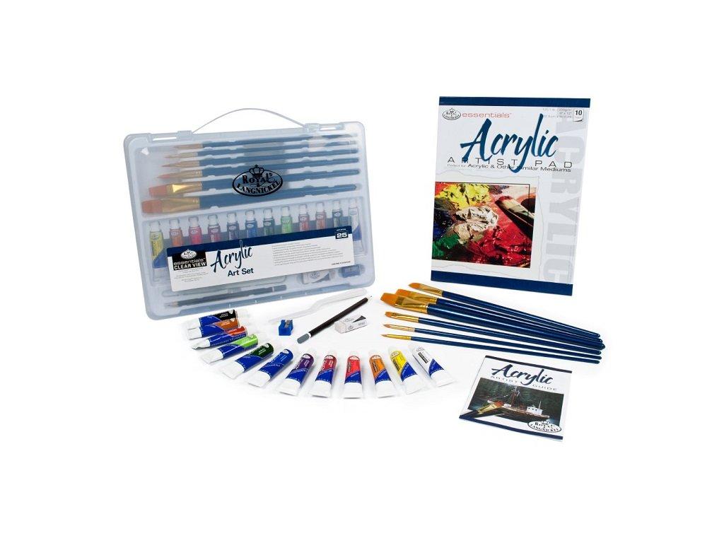 vyr 3782Sada akrylovych farieb essentials v plastovom kufriku 25 dielna