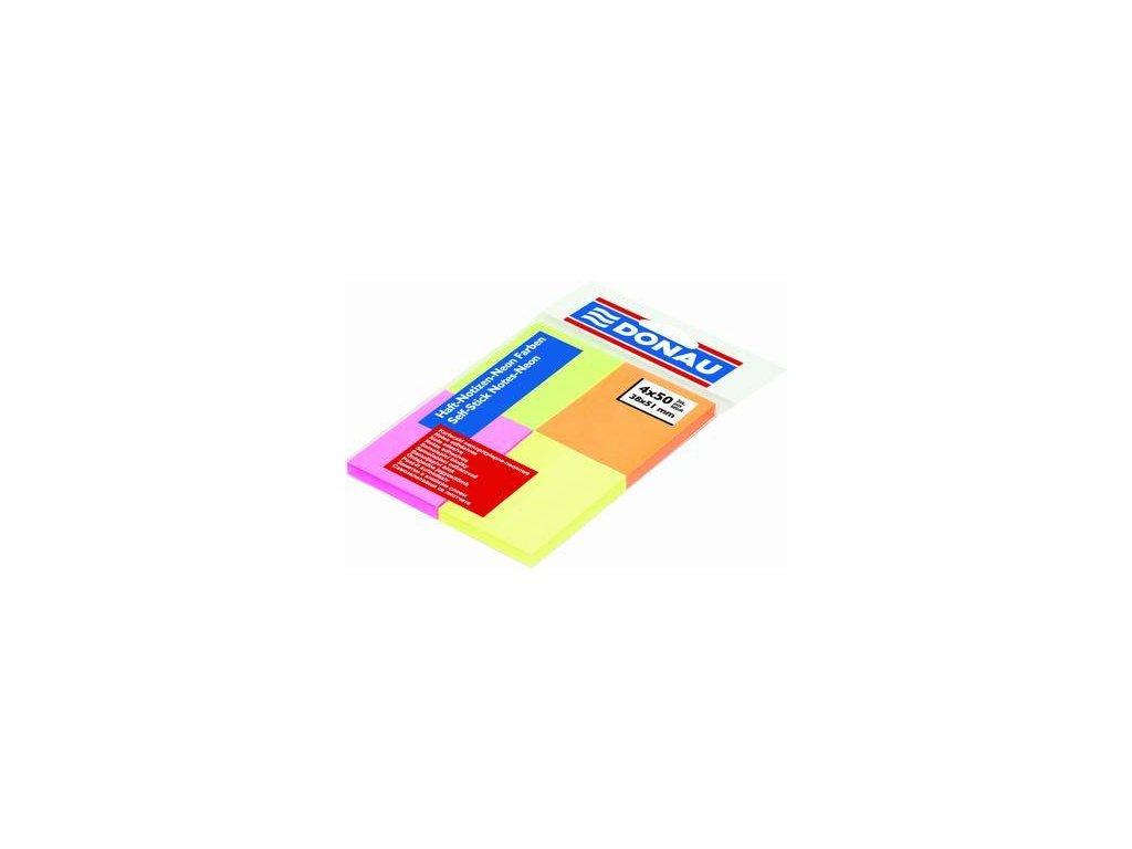 Donau, indexový samolepicí bloček 38x51 mm barva 4x50 lístků