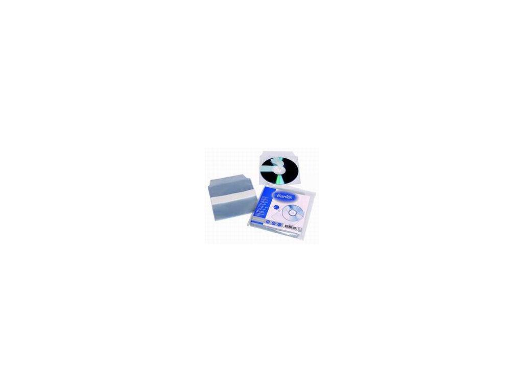 Bantex, 250 x obal na CD, samolepicí, vklad do časopisů