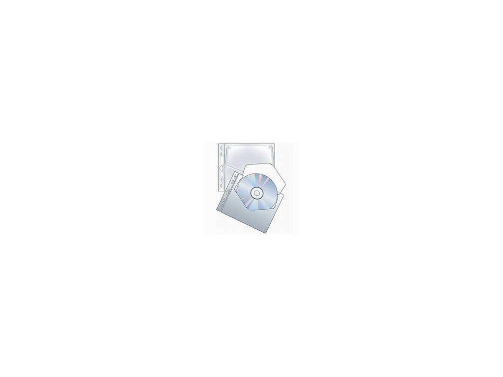 Karton P+P, obal na CD s eurozávěsem polypropylen 10 ks