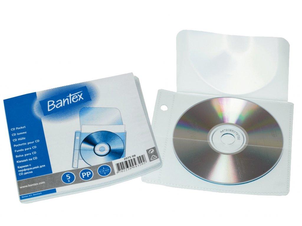 Bantex, obal na CD, zakládací závěsný, 5 ks