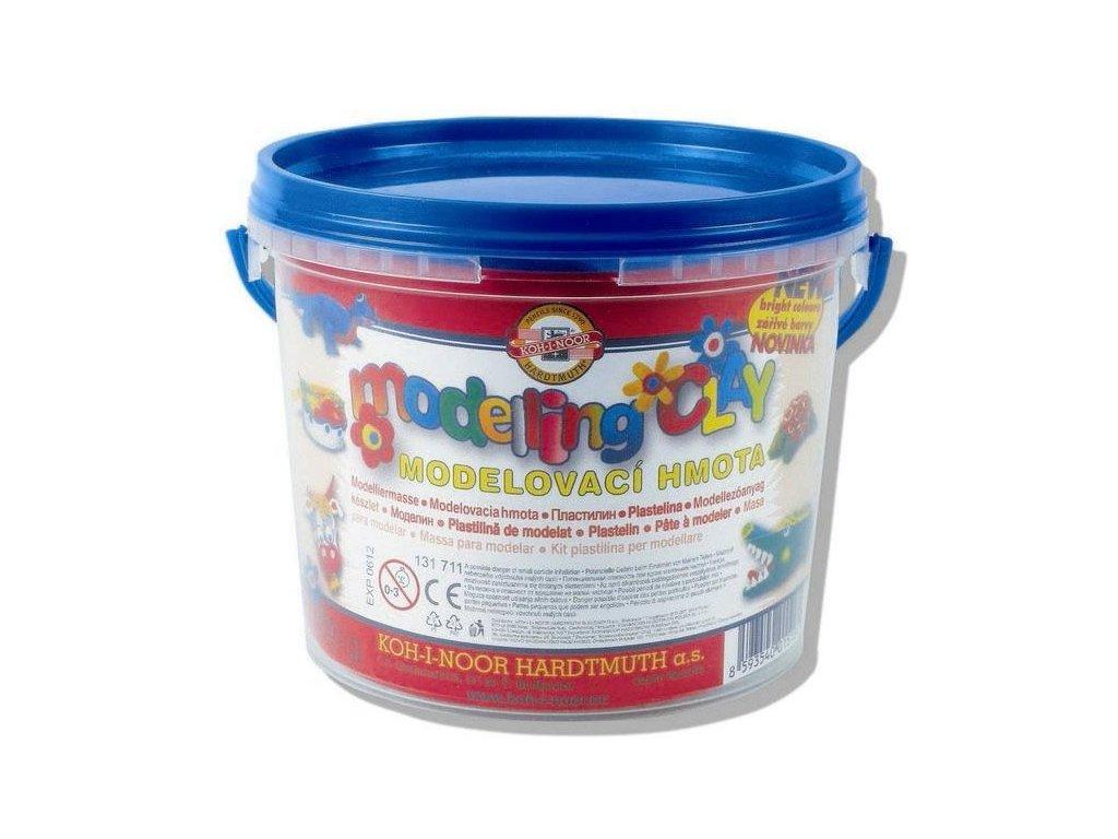 Koh-i-noor, modelína 8 barev,  kbelík 700g.