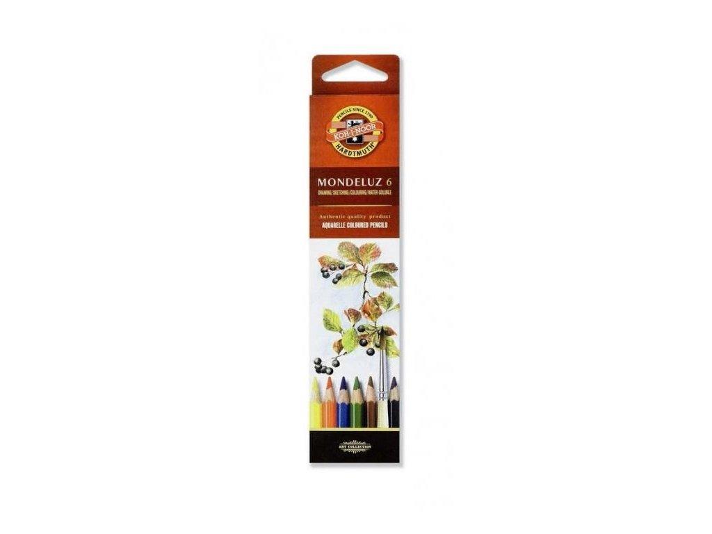 Koh-i-noor, mondeluz umělecké akvarelové pastelové tužky 3715 6 ks v sadě