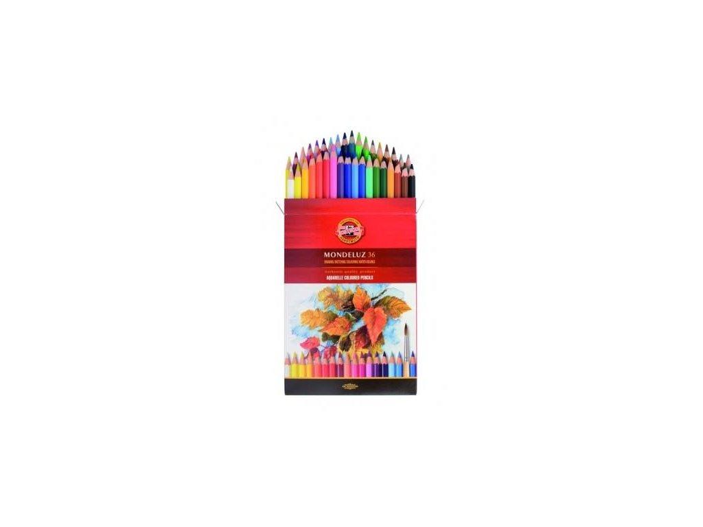 Koh-i-noor, mondeluz umělecké akvarelové pastelové tužky 3719 36 ks v sadě