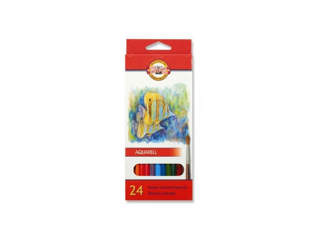 Koh-i-noor, mondeluz školní akvarelové pastelové tužky 3718 24 ks v sadě