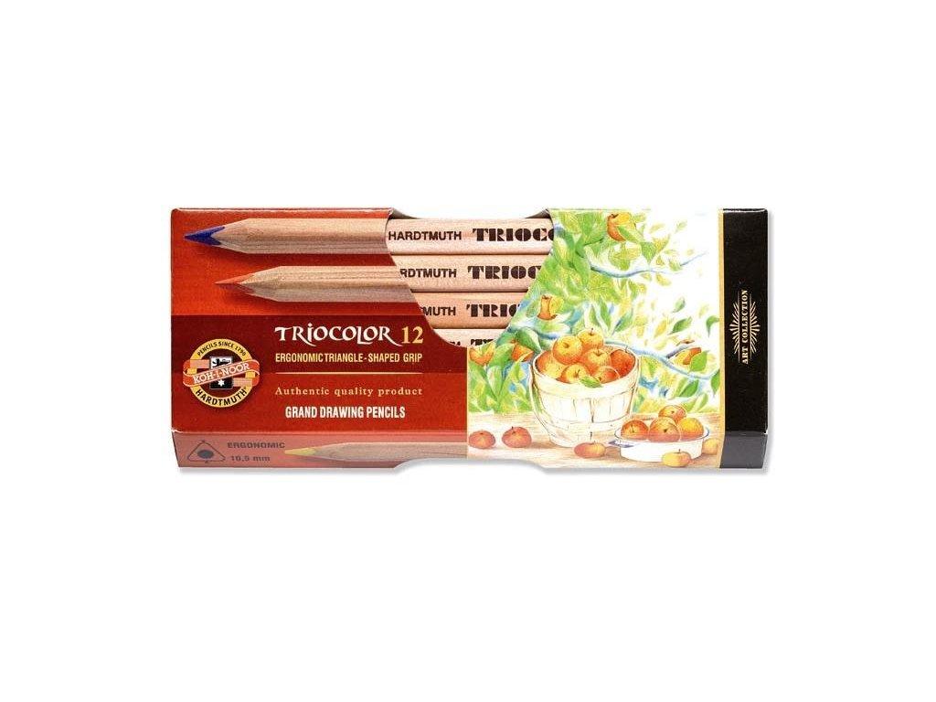 Koh-i-noor, TRIOCOLOR umělecké pastelové tužky 3152N 12 ks v sadě