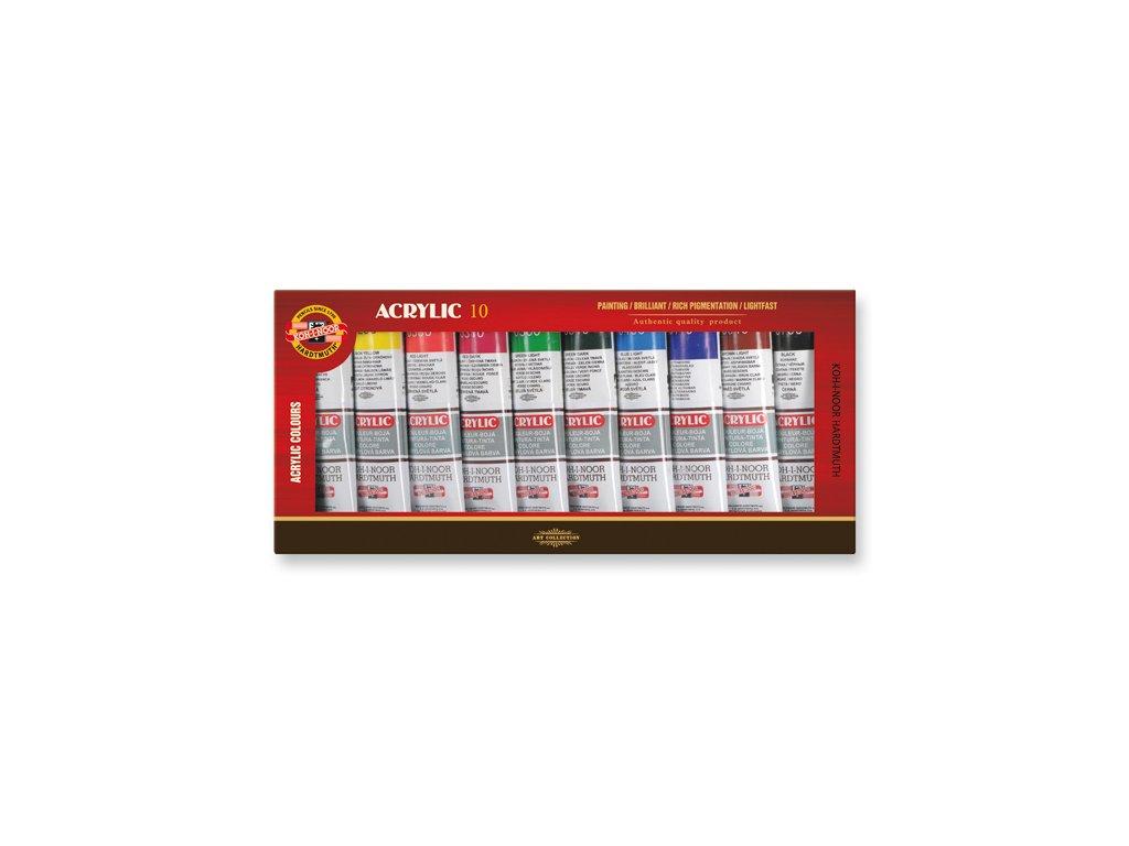 Koh-i-noor, akrylová barva  souprava 10x40 ml