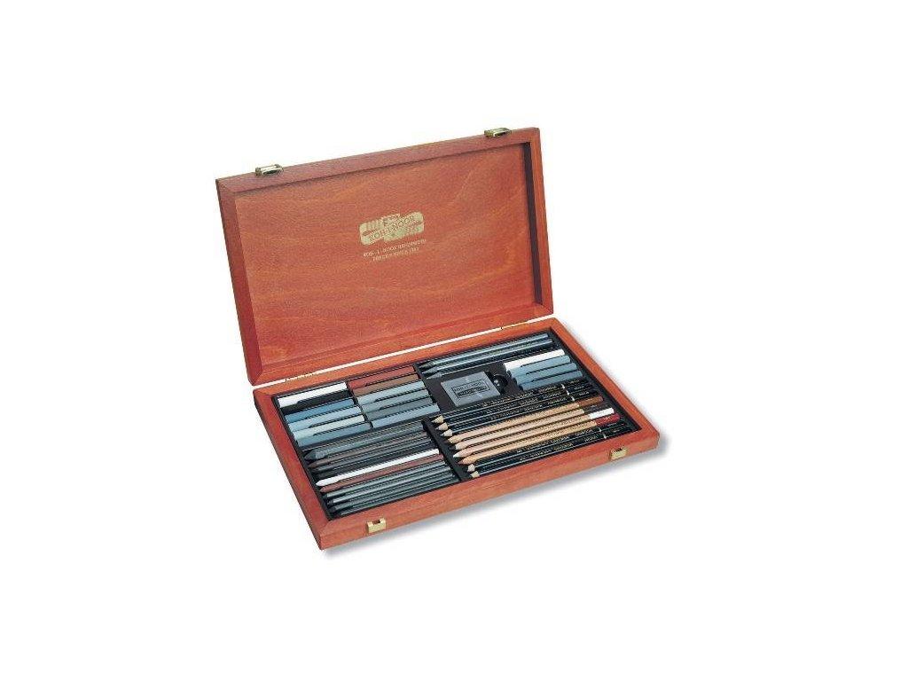 Koh-i-noor, kreslířská dřevěná dárková kazeta GIOCONDA 8895