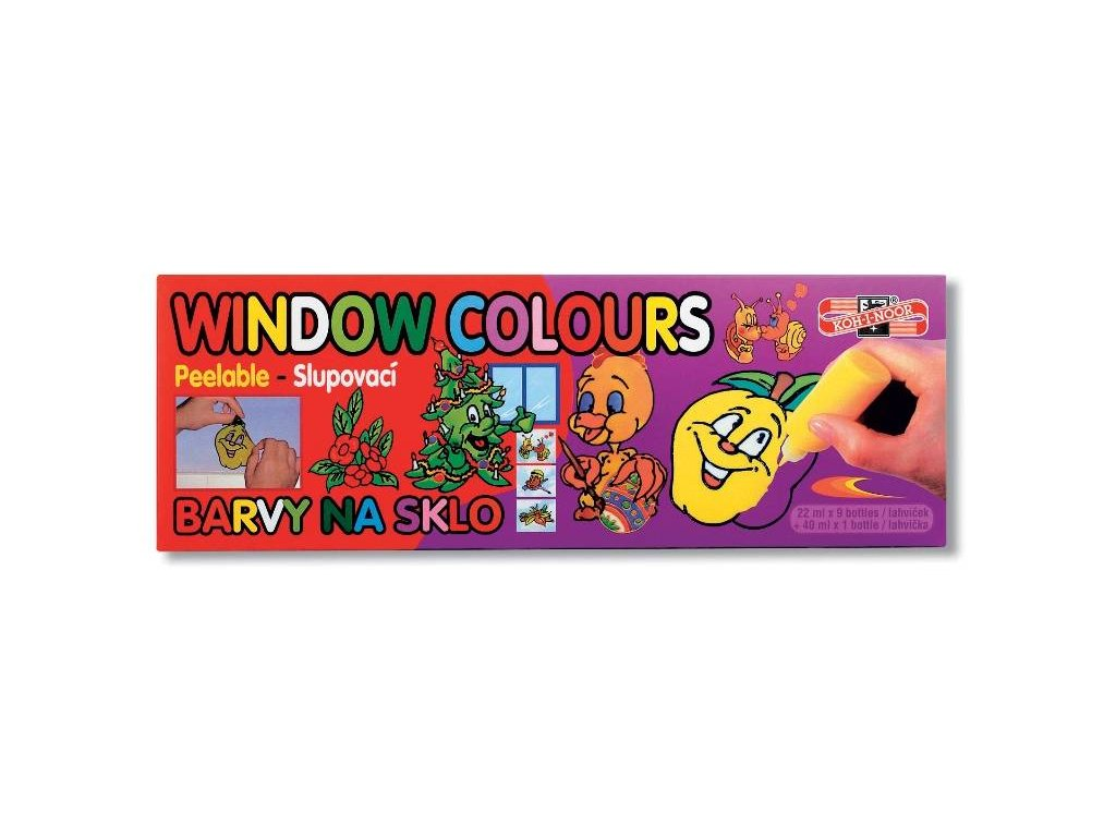 Koh-i-noor, slupovací barva na sklo 9x22 +1x40 ml.9740