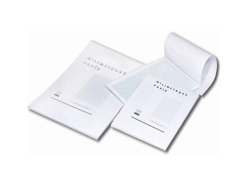 KRPA, milimetrový papír A4, 50 listový blok