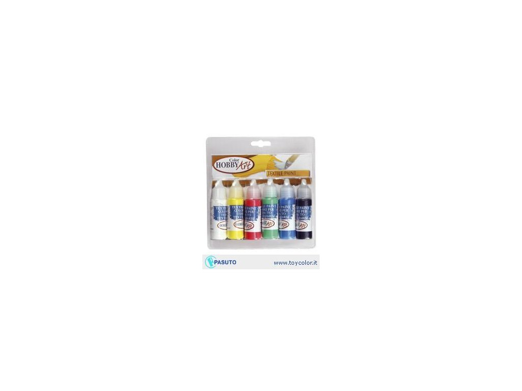 Hobby Color Art, barva na textil, set 6x25 ml