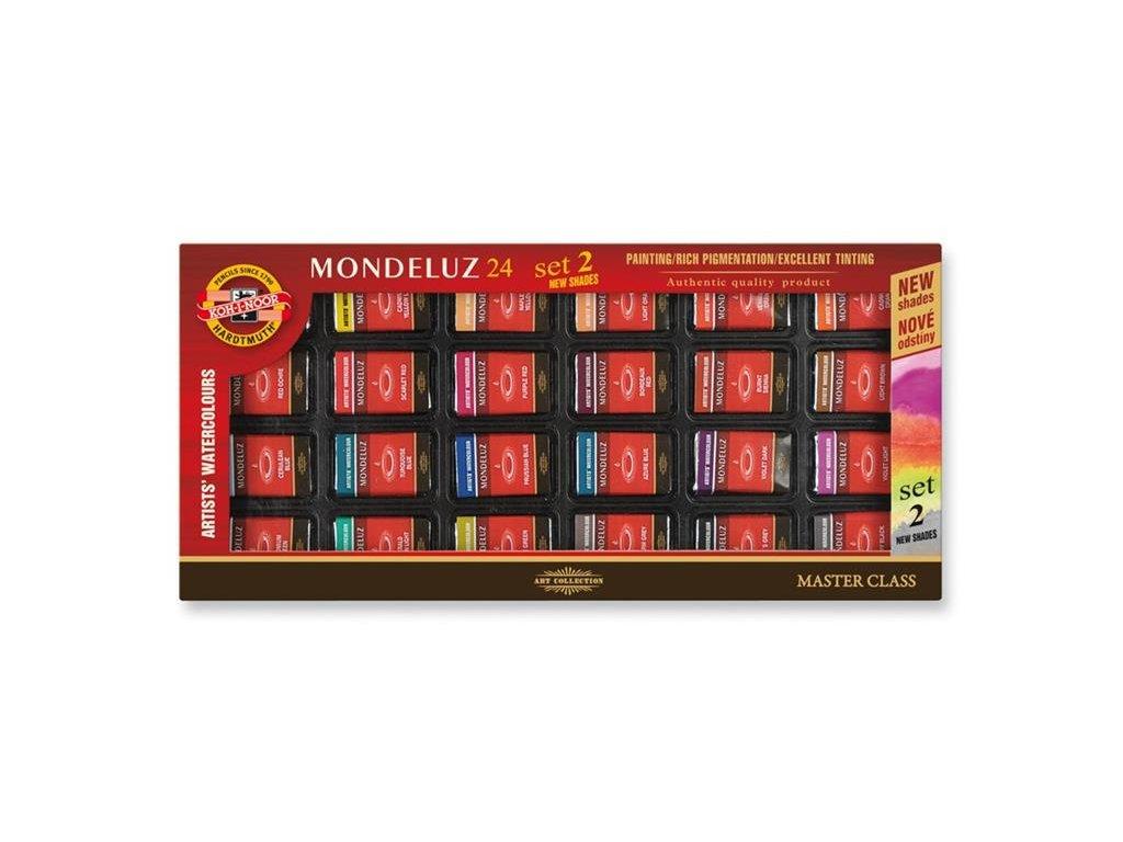 Koh-i-noor, MONDELUZ, souprava uměleckých akvarelových barev II, 24 barev