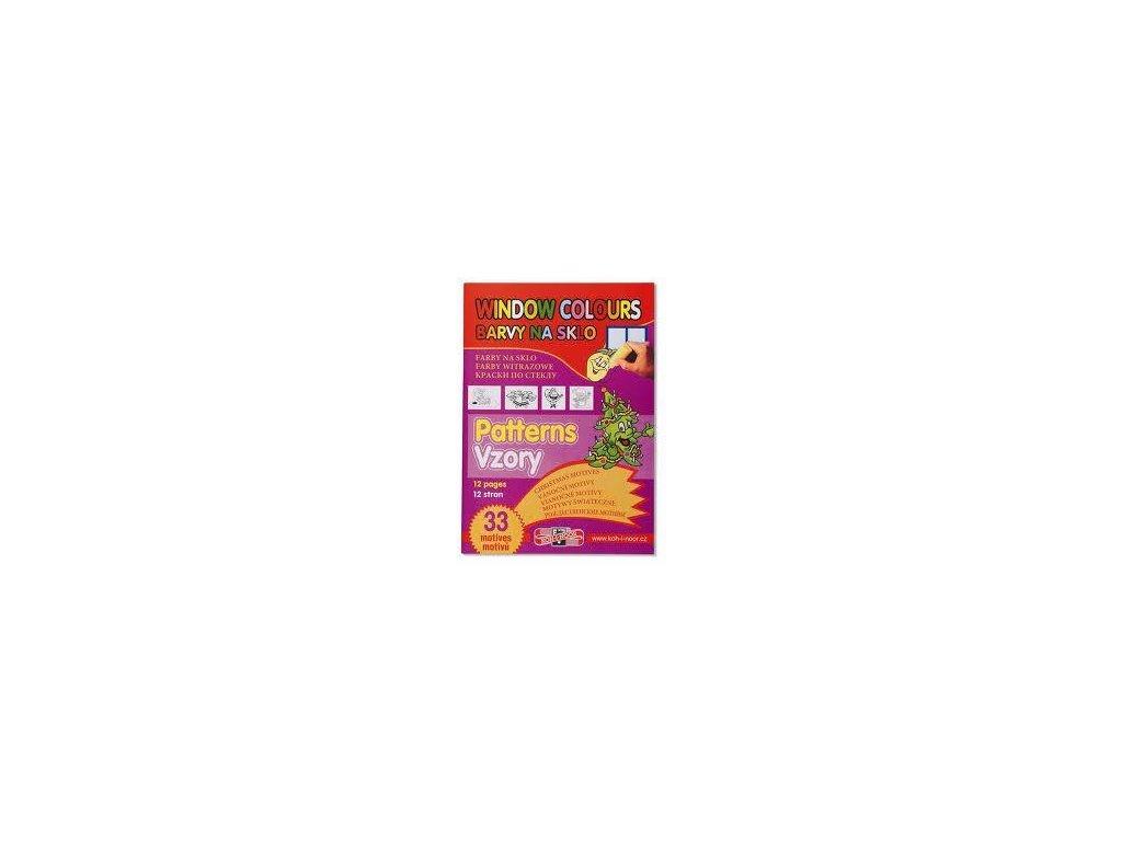 Koh-i-noor, vánoční šablona, vzory pro slupovací barvy, 33 motivů