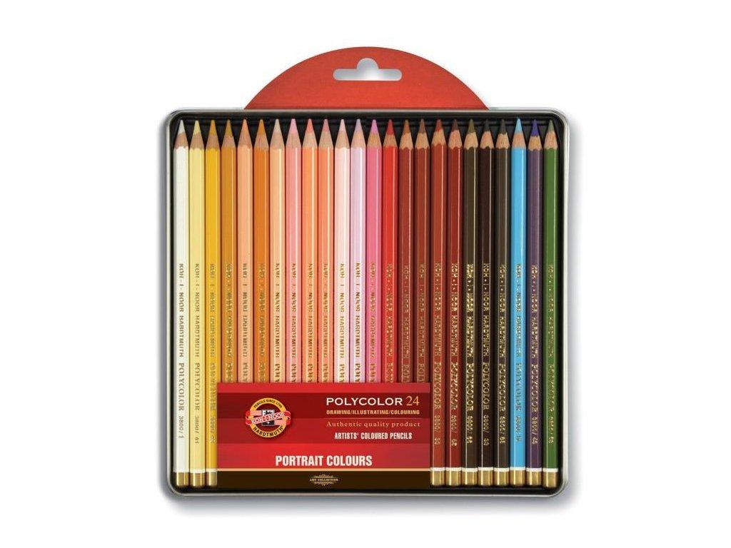 Koh-i-noor, umělecké pastelové tužky polycolor 3824/24, portrét