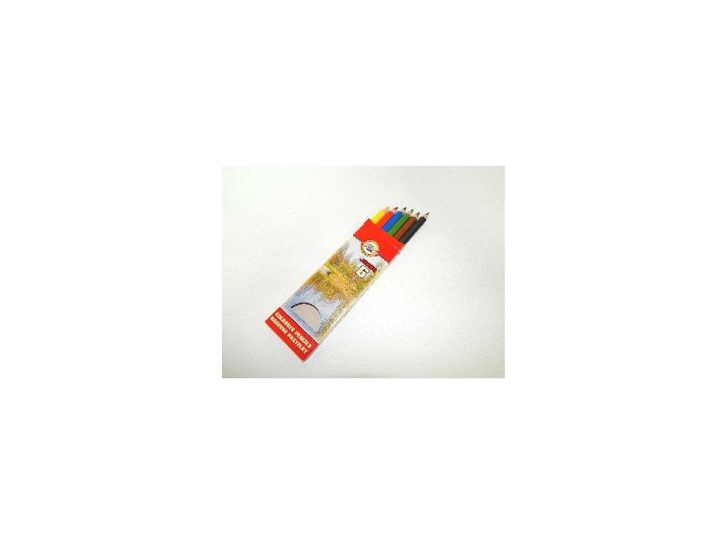 Koh-i-noor, OMEGA JUMBO  školní pastelky 3371 6 ks v sadě