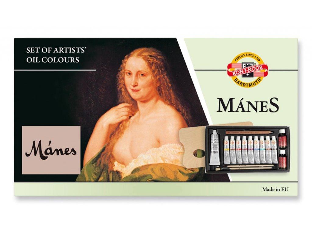 Koh-i-noor, olejové barvy 161601 Mánes sada 10 barev 16 ml.