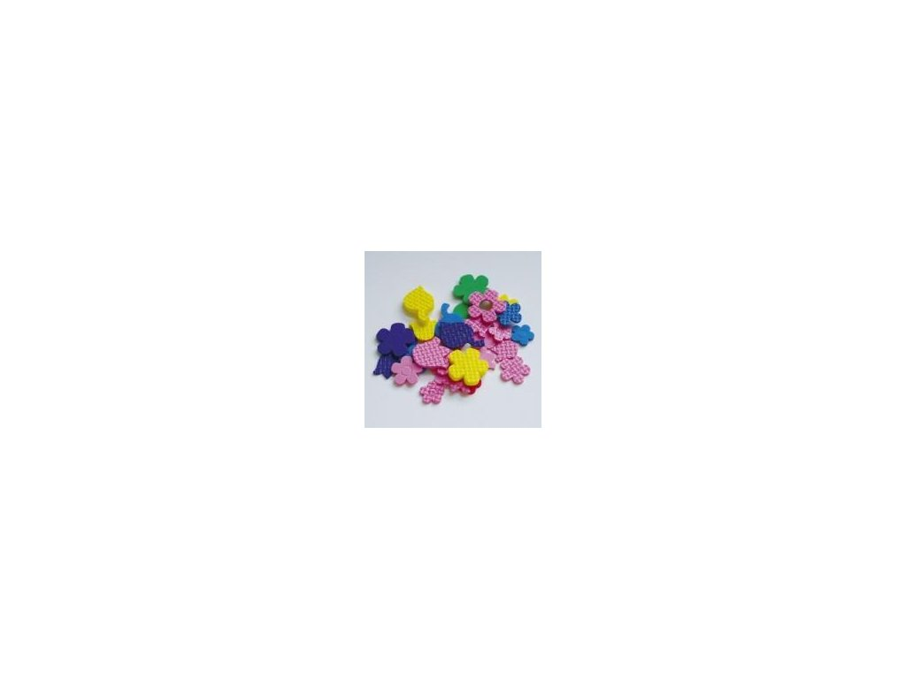 výseky, květiny 210ks/bal., pěnová guma