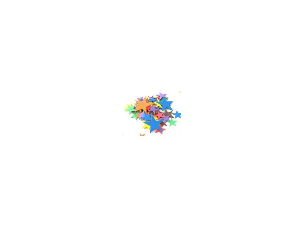 výseky, hvězdy 200ks/bal., pěnová guma