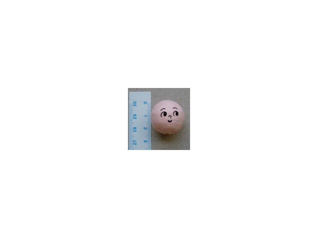 vata, obličej panenka 24 mm, 10 ks