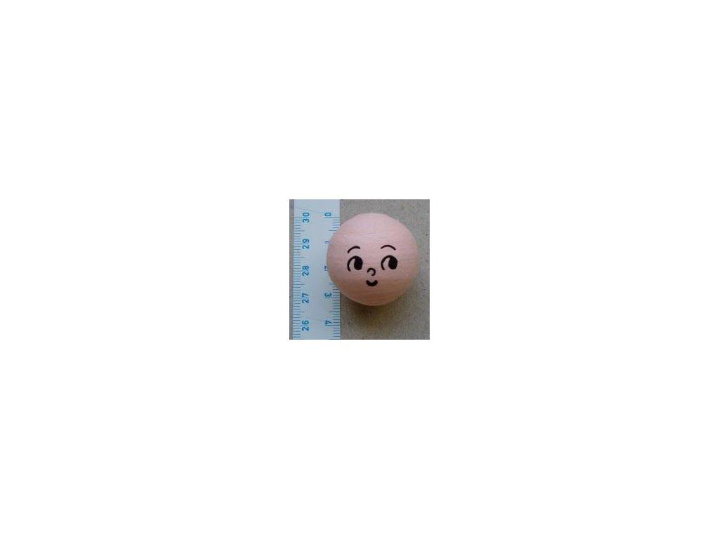 vata, obličej panenka 31 mm, 5 ks