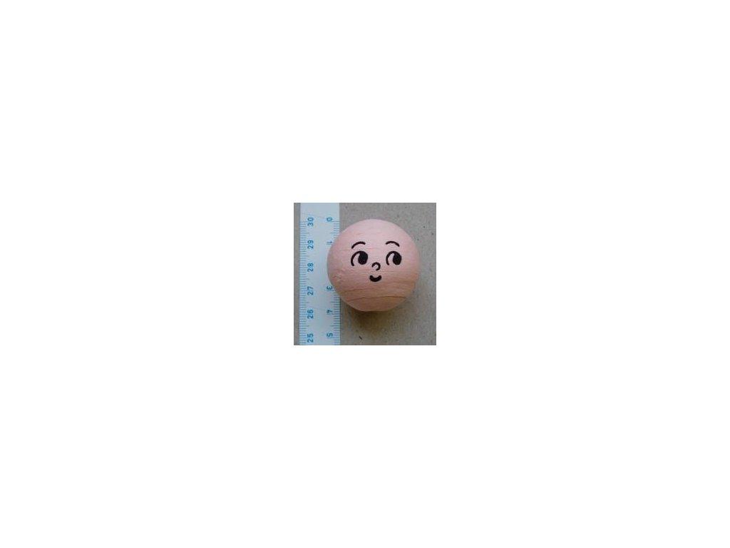 vata, obličej panenka 36 mm, 5 ks