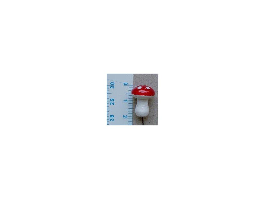 mochomůrka z vaty, velikost 2 cm, 4 ks