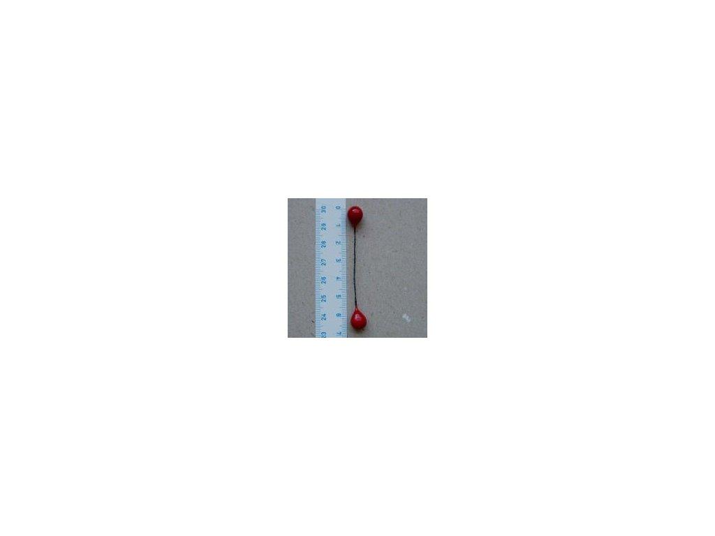 dvoupestík velký červený 10 ks