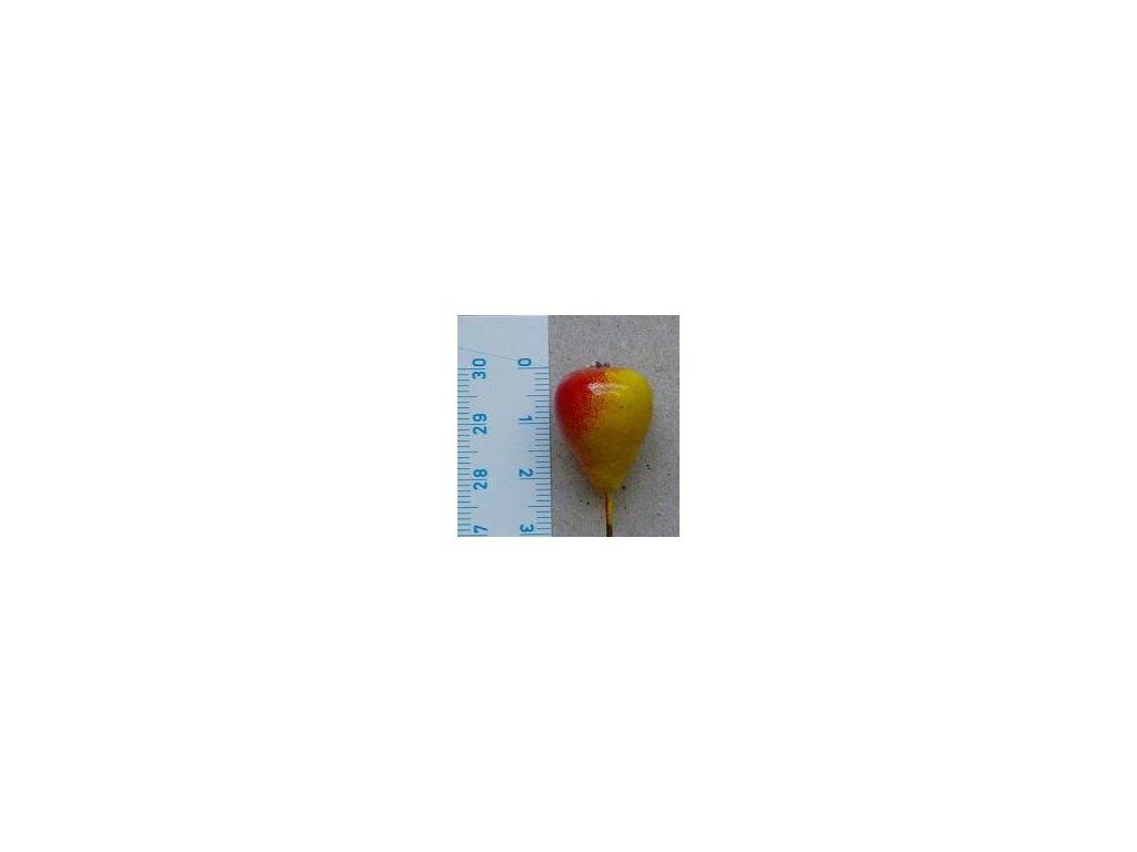 hruška malá žluto červená, 4 ks