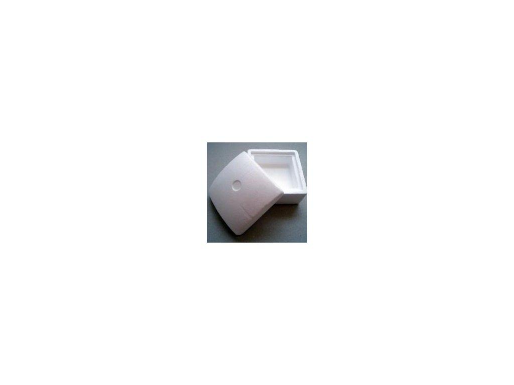 krabička čtvercová, polystyren 130x130 mm