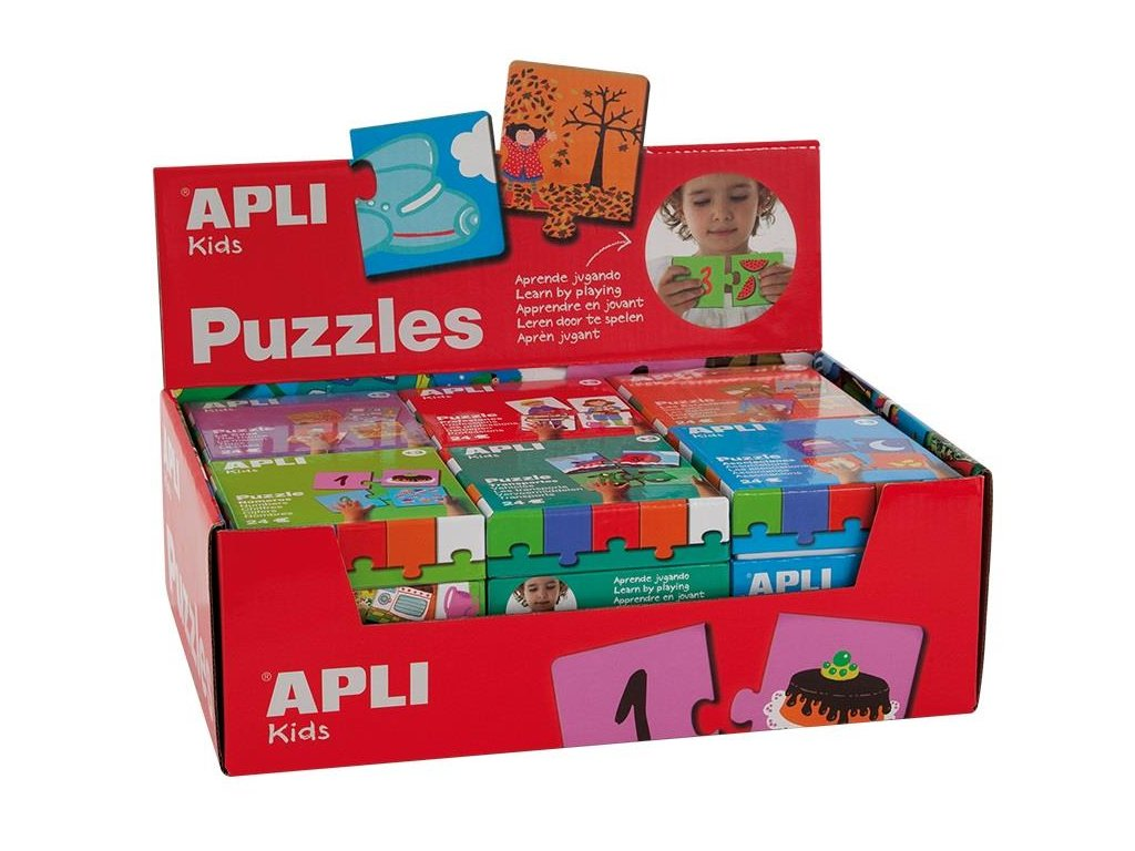 APLI, PUZZLE BOX,  sada 6 motivů