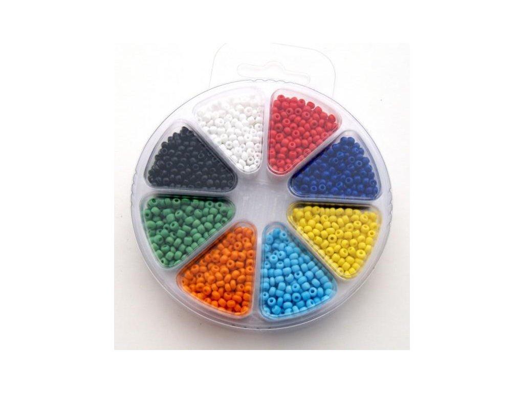 Set korálků 1 - sklo 8 barev