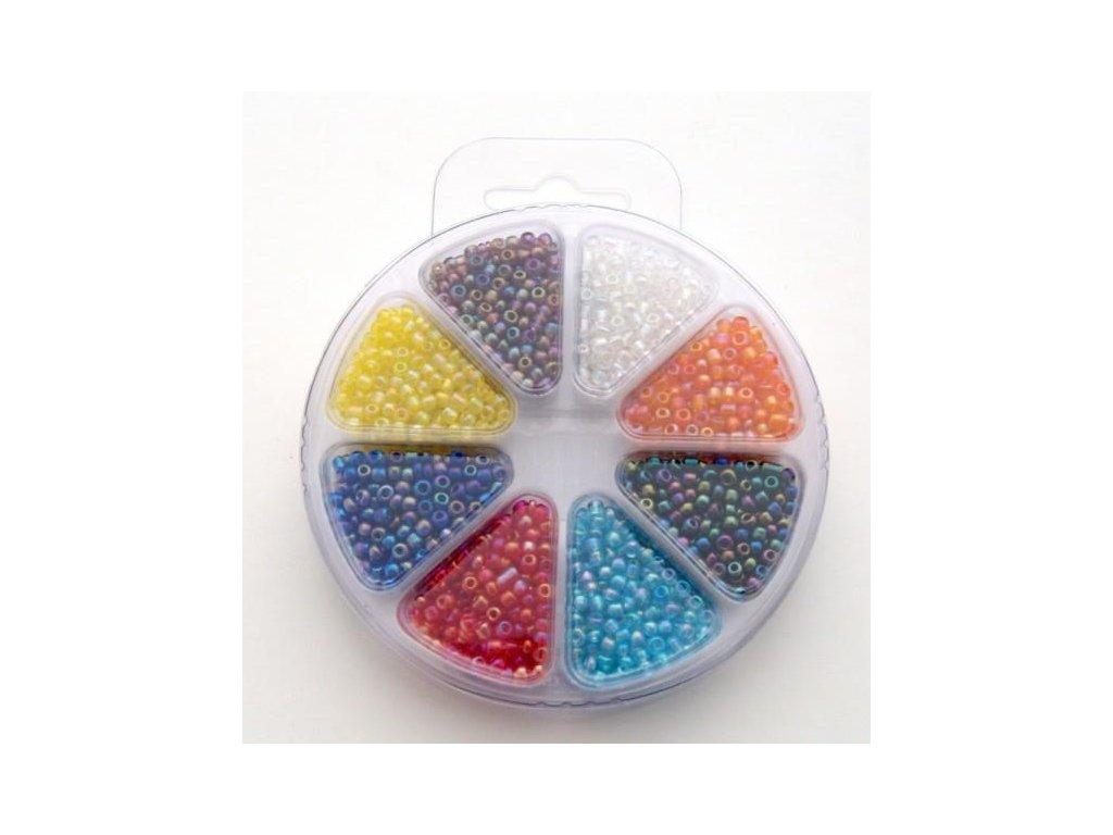 Set korálků 2 - sklo 8 barev