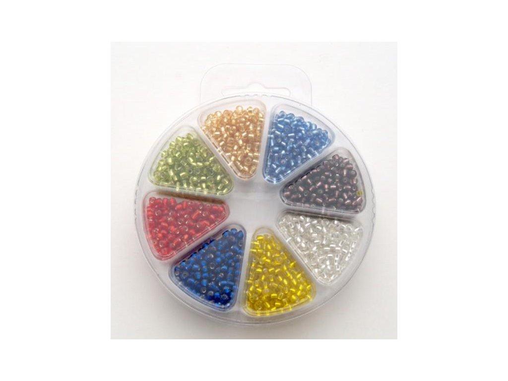 Set korálků 3 - sklo 8 barev