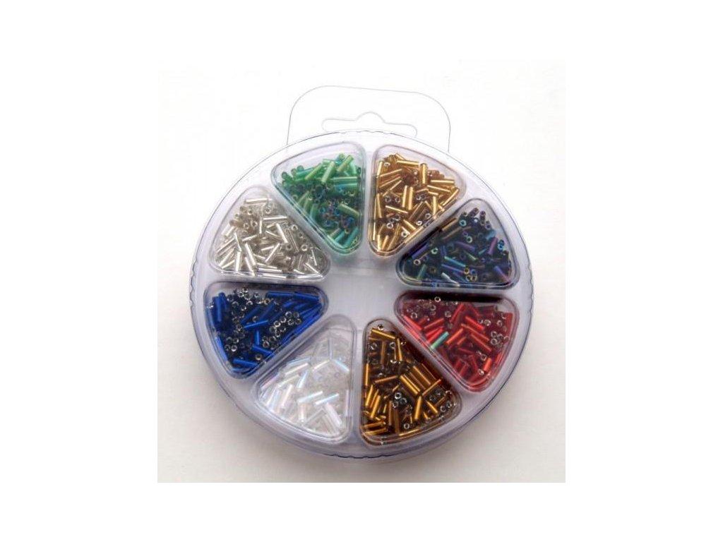 Set korálků 4 - sklo 8 barev