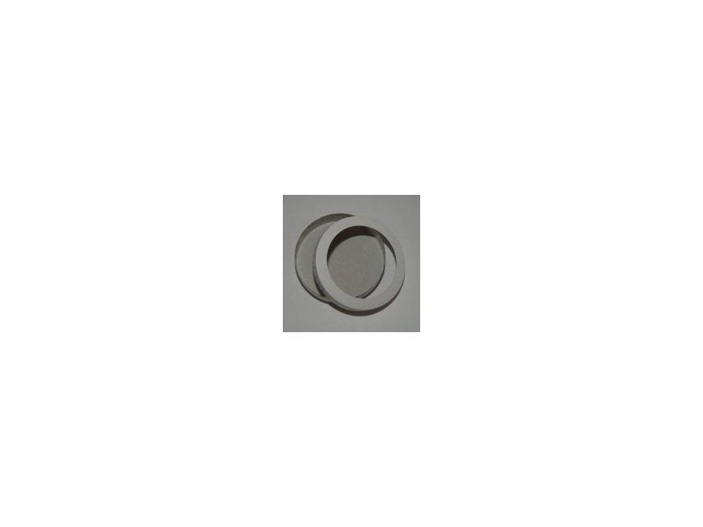 Lampion kruh 15,3 cm bílý, dno + víčko