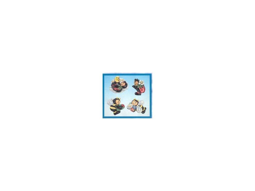 Forma na odlitky, berušky, 4 ks