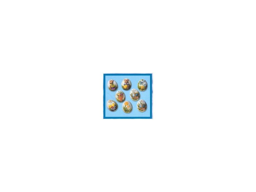 """velikonoční forma na odlitky, vejce """"85"""", 3D, 8 ks"""