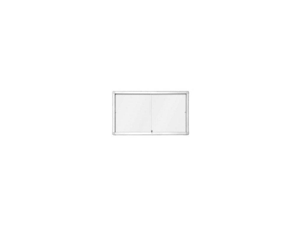interiérová vitrína s posuvnými dveřmi