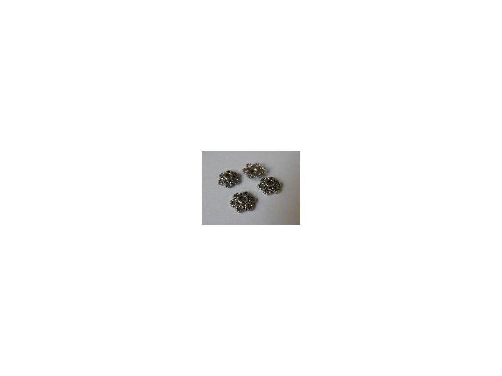 Kaplík platina 10mm I, 6 ks
