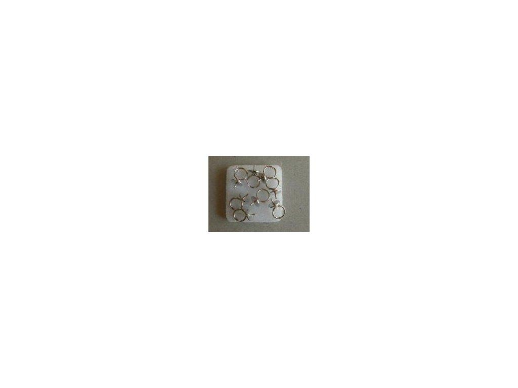 Kaplík závěs s trnem 6mm platina, 8 ks