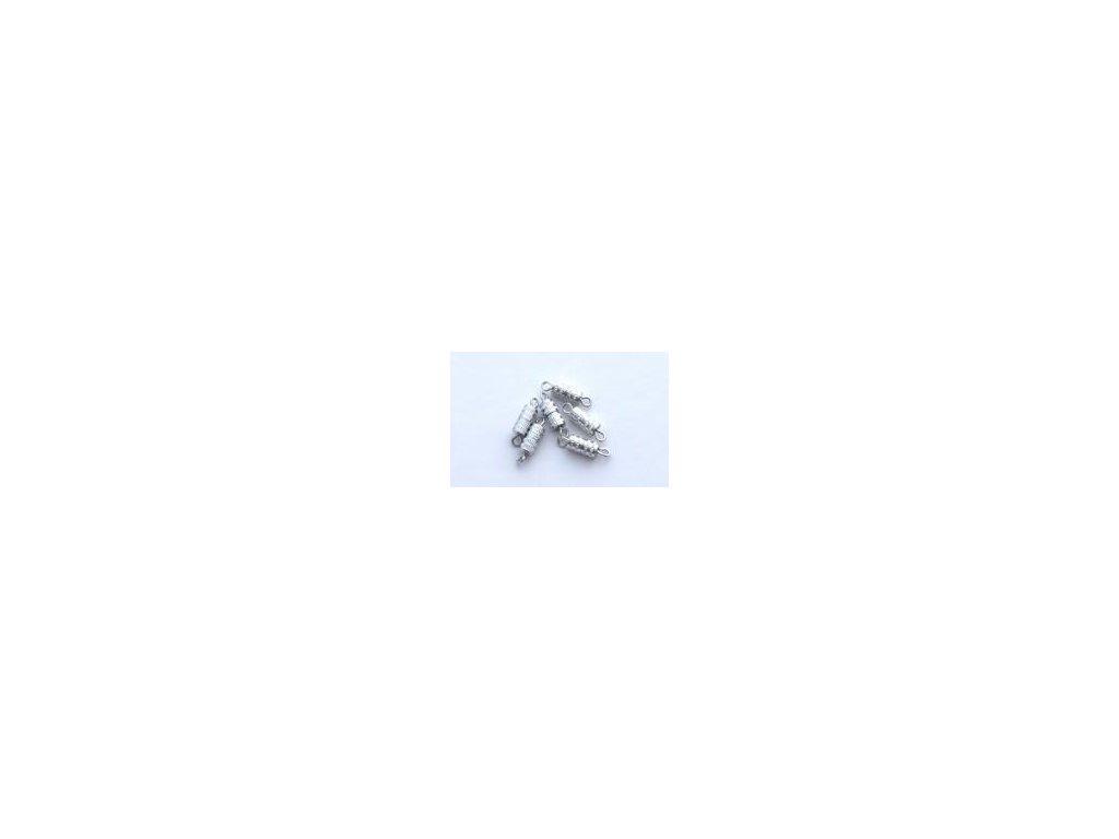 šroubovací uzávěr,  6ks, imitace stříbro