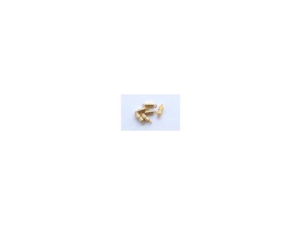 šroubovací uzávěr,  6ks, imitace zlato