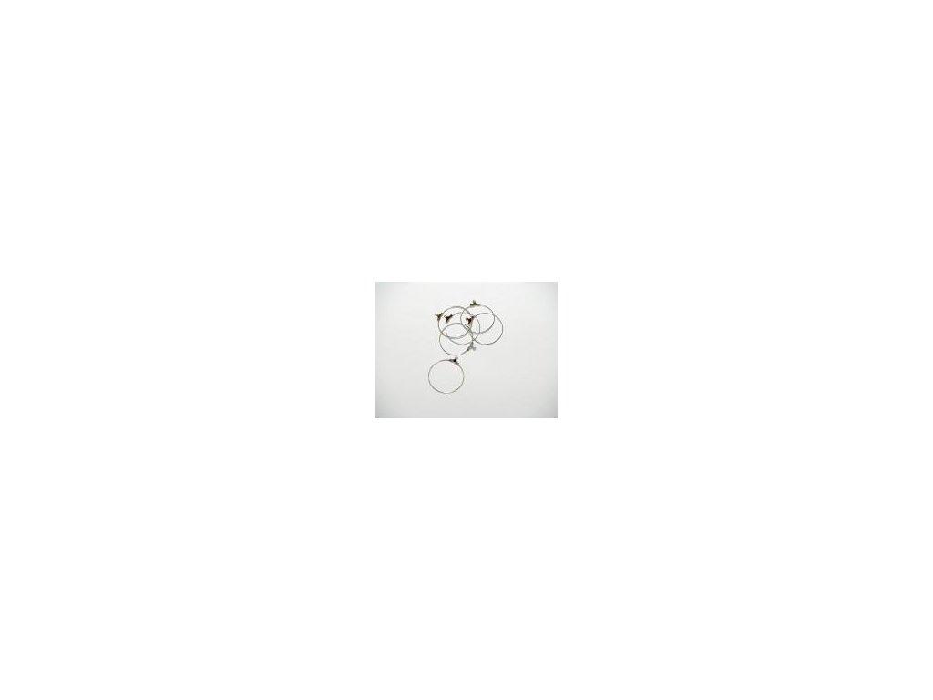 Náušnice kruh 30mm, 6ks, imitace stříbra