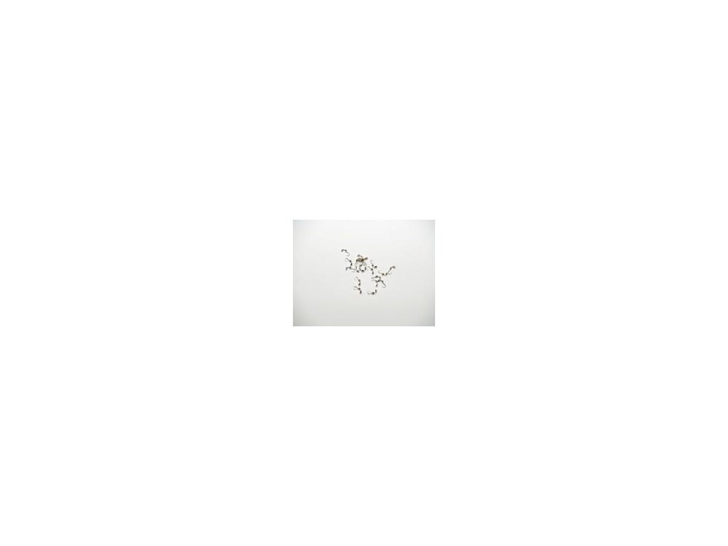 Kalota dvoumisková, 20ks, imitace stříbra