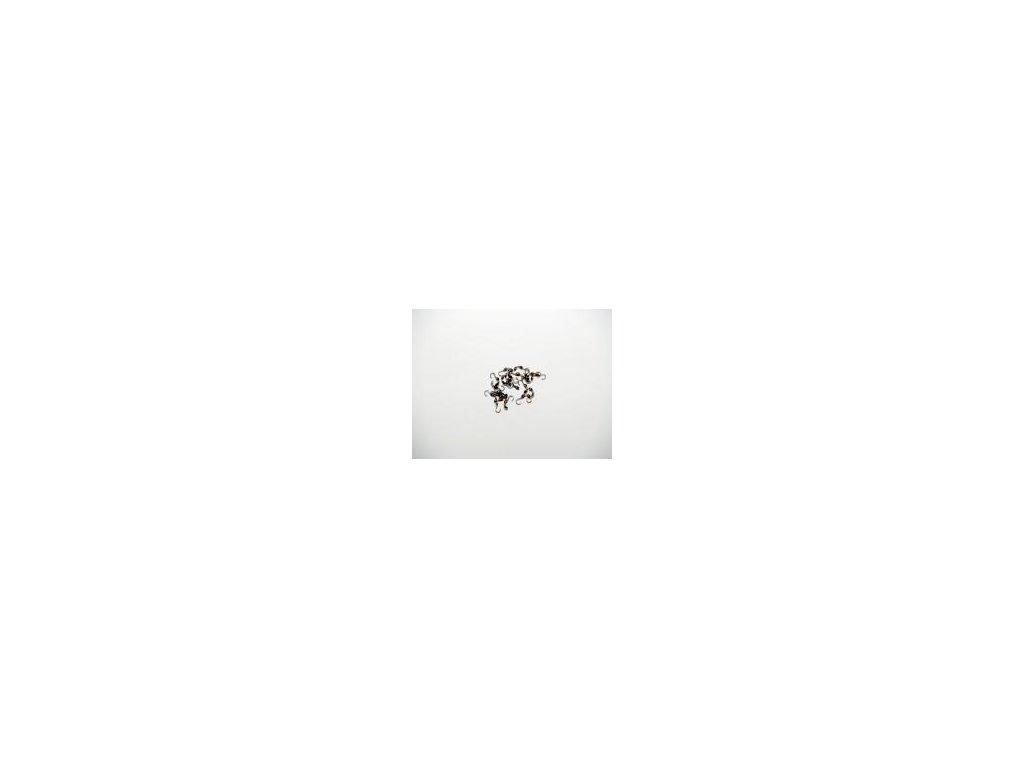 Kalota dvoumisková, 20ks, imitace antracit