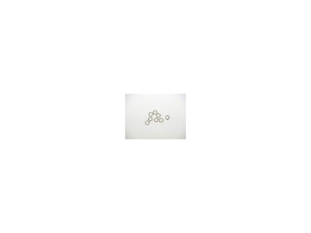 Ozdoba květina 15mm, 8ks, imitace stříbro