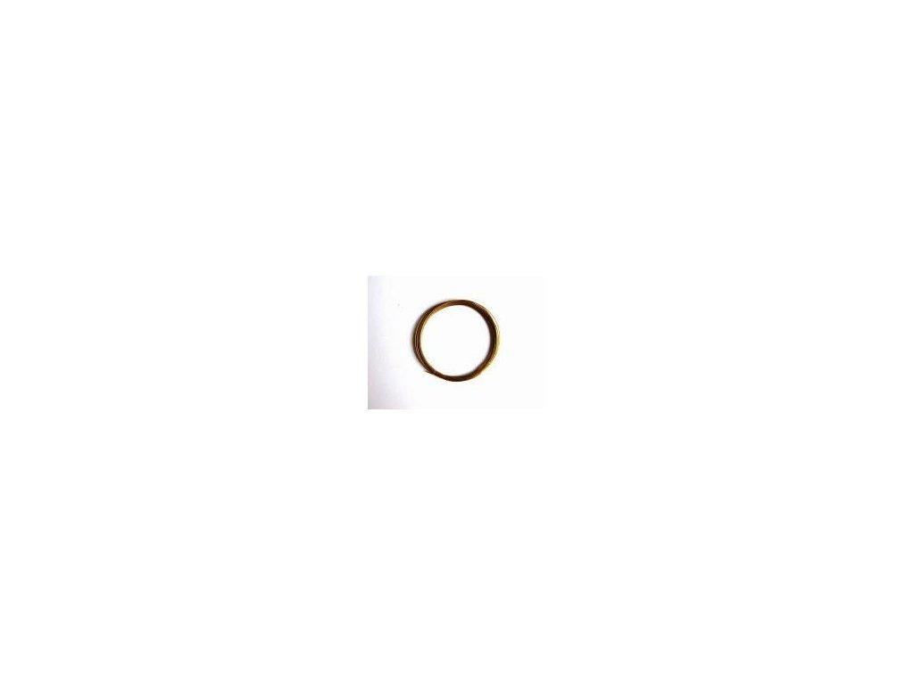 Lanko, imitace zlata, 0,4 mm x 4 m