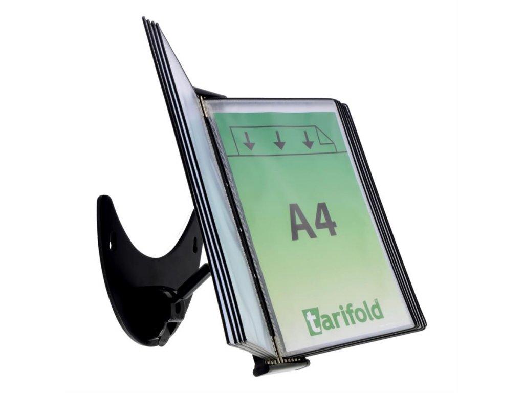 Tarifold, pultový stojan 3D s 10 kapsami černý