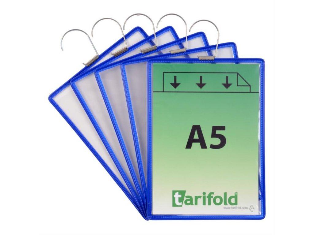 Tarifold, ochranné kapsy s hákem A5 na výšku, otevřené shora