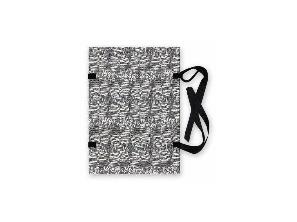 25 x HIT, spisové desky tkanicové A4 potisk hadí kůže